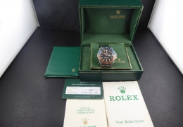 ROLEX GMT 1675 LONG E BOX & PAPER